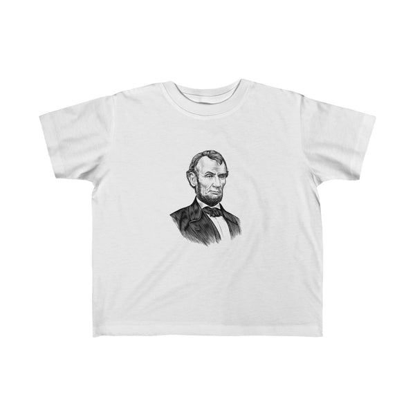 Abraham Lincoln Toddler and Young Kids T-Shirt - Biblioriot
