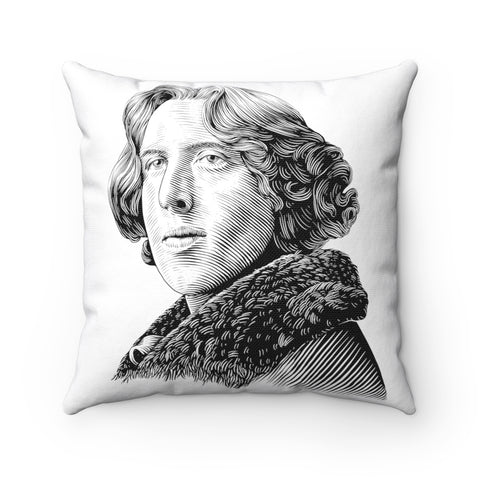 Oscar Wilde Square Pillow - Biblioriot
