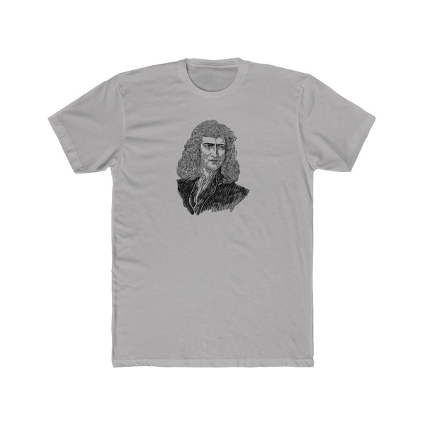 Sir Isaac Newton Cotton Crew T-Shirt - Biblioriot