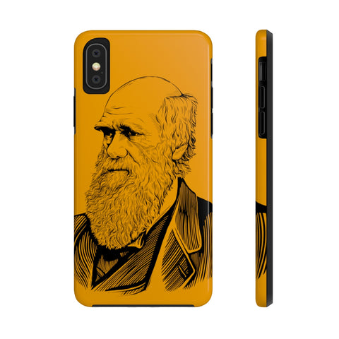 Charles Darwin Case Mate Tough Phone Case (Galapagos Orange) - Biblioriot