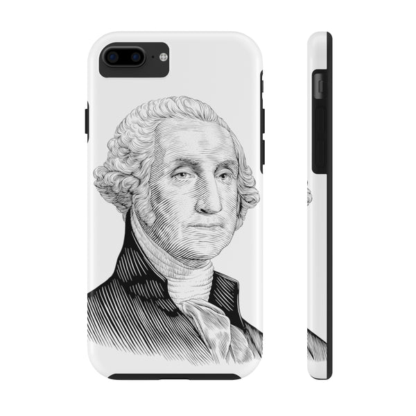 George Washington Case Mate Tough Phone Case - Biblioriot
