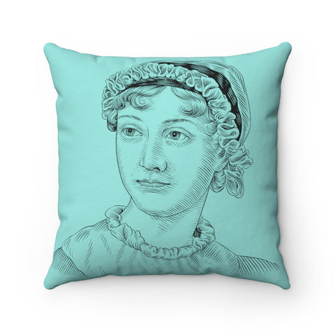 Jane Austen Square Pillow - Biblioriot