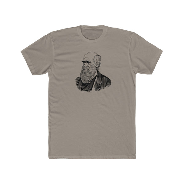 Charles Darwin Cotton Crew T-Shirt - Biblioriot