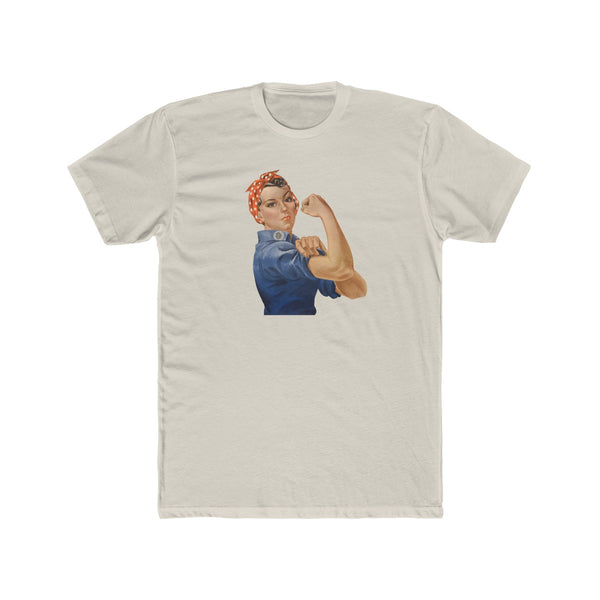 Rosie the Riveter Cotton Crew T-Shirt - Biblioriot