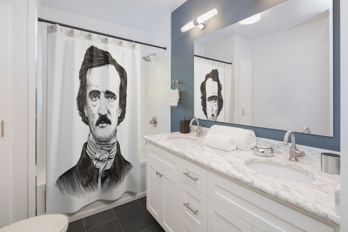 Edgar Allan Poe Shower Curtain - Biblioriot