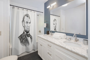 Abraham Lincoln Shower Curtain - Biblioriot