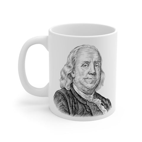 Benjamin Franklin Ceramic Mug - Biblioriot