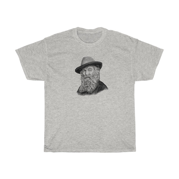Walt Whitman Heavy Cotton T-Shirt - Biblioriot
