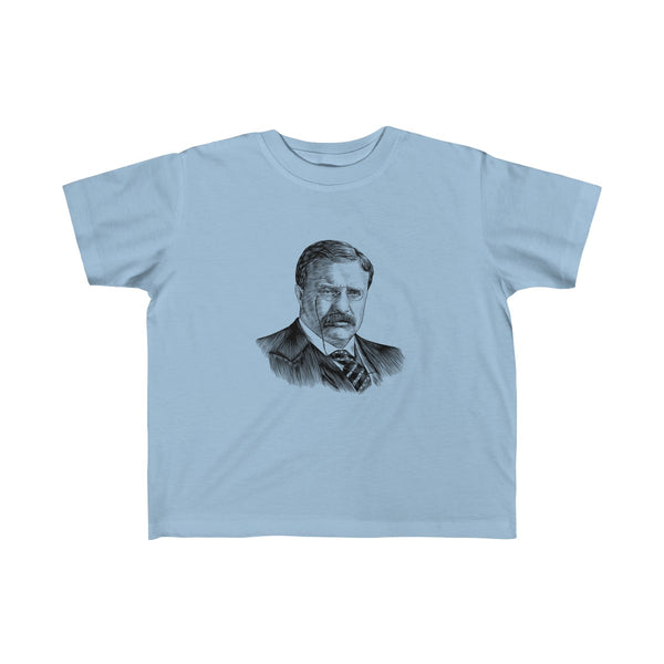 Teddy Roosevelt Toddler and Young Kids T-Shirt - Biblioriot