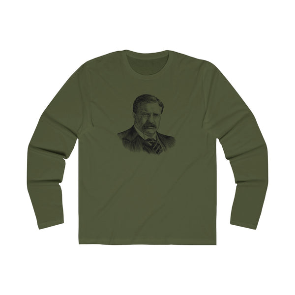 Teddy Roosevelt Long Sleeve Crew T-Shirt - Biblioriot