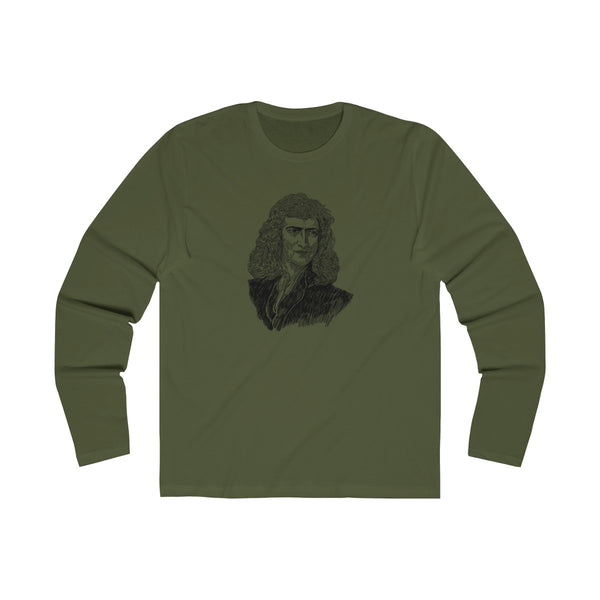 Sir Isaac Newton Long Sleeve Crew T-Shirt - Biblioriot