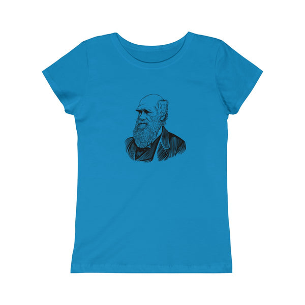 Charles Darwin Girls Princess T-Shirt - Biblioriot