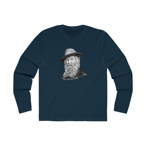 Walt Whitman Long Sleeve Crew T-Shirt - Biblioriot