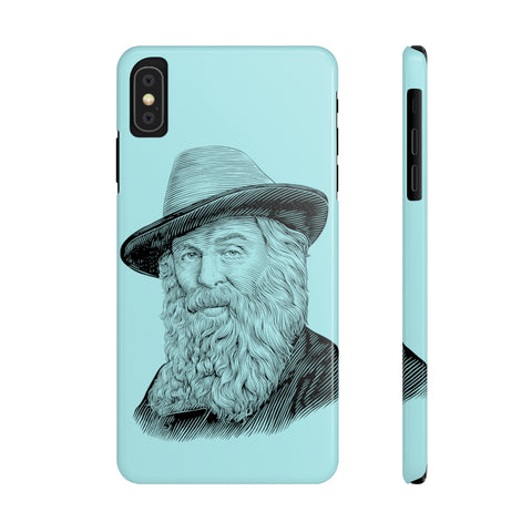 Walt Whitman Case Mate Slim Phone Case (Robin's Egg Blue) - Biblioriot