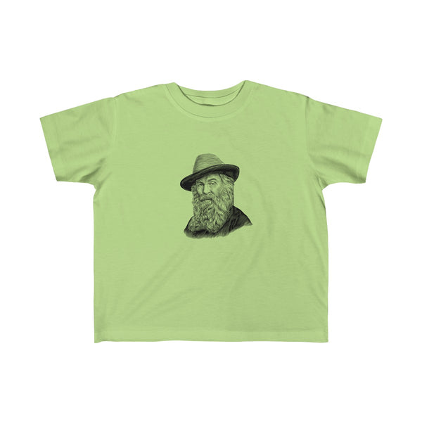 Walt Whitman Toddler and Young Kids T-Shirt - Biblioriot