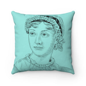 Jane Austen Square Pillow Case - Biblioriot
