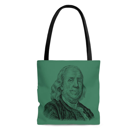 Benjamin Franklin Tote Bag - Biblioriot
