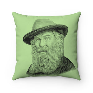Walt Whitman Square Pillow - Biblioriot