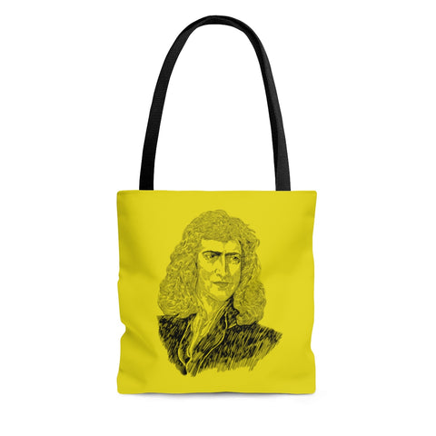Sir Isaac Newton Poly Tote Bag (Prism Yellow) - Biblioriot