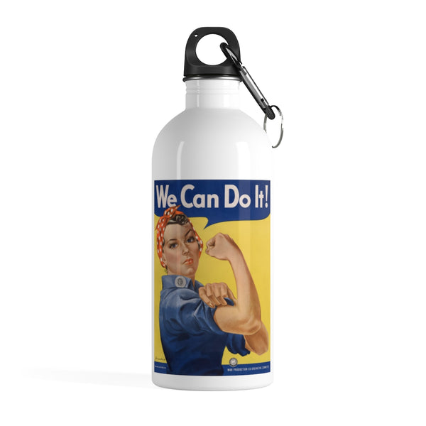 Rosie the Riveter Stainless Steel Water Bottle -- We Can Do It! - Biblioriot