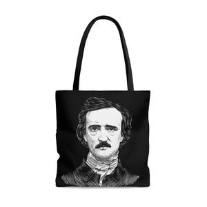 Edgar Allan Poe Poly Tote Bag - Biblioriot