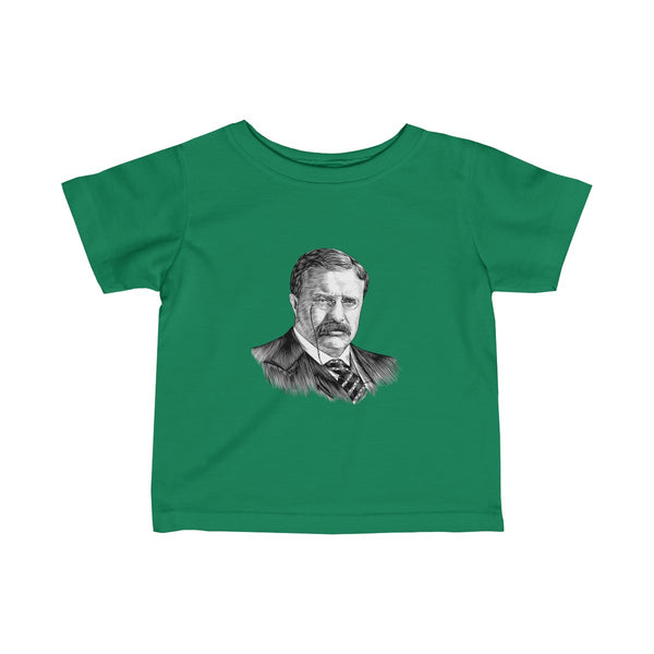 Teddy Roosevelt Baby and Toddler T-Shirt - Biblioriot