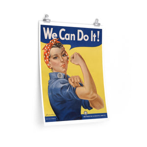 Rosie the Riveter Poster -- We Can Do It! - Biblioriot