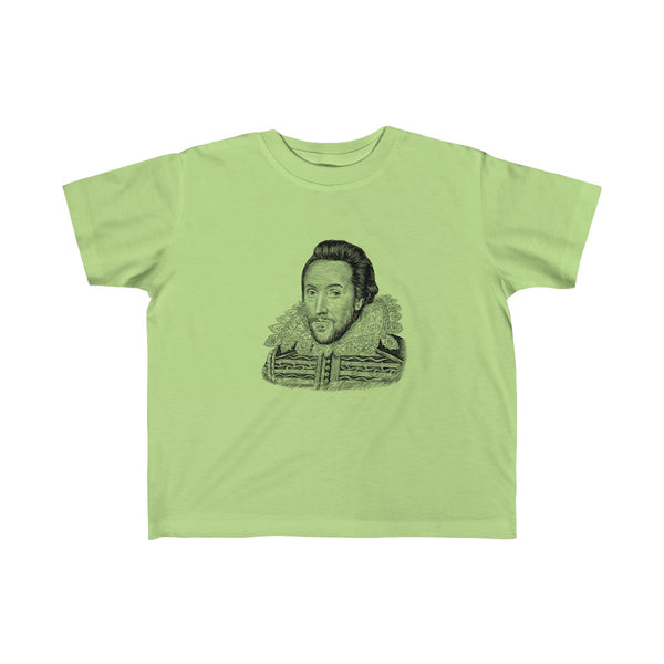 William Shakespeare Toddler and Young Kids T-Shirt - Biblioriot