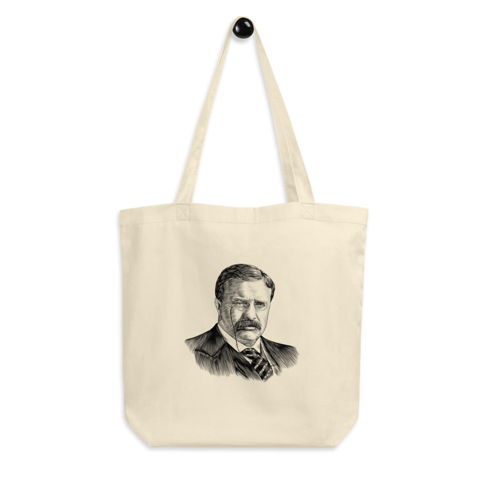 Teddy Roosevelt Organic Cotton Tote Bag - Biblioriot
