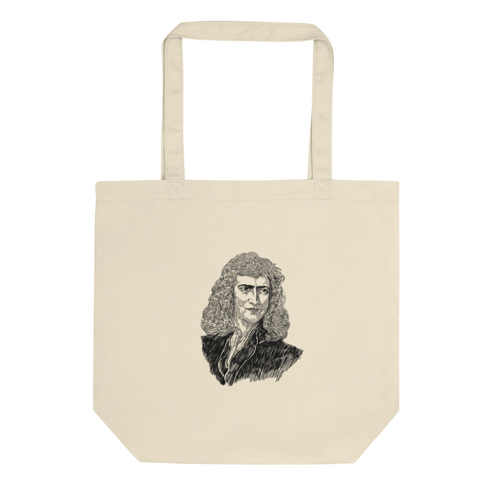 Sir Isaac Newton Organic Cotton Tote Bag - Biblioriot
