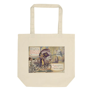 Women's Suffrage Parade of 1913 Organic Cotton Tote Bag - Biblioriot