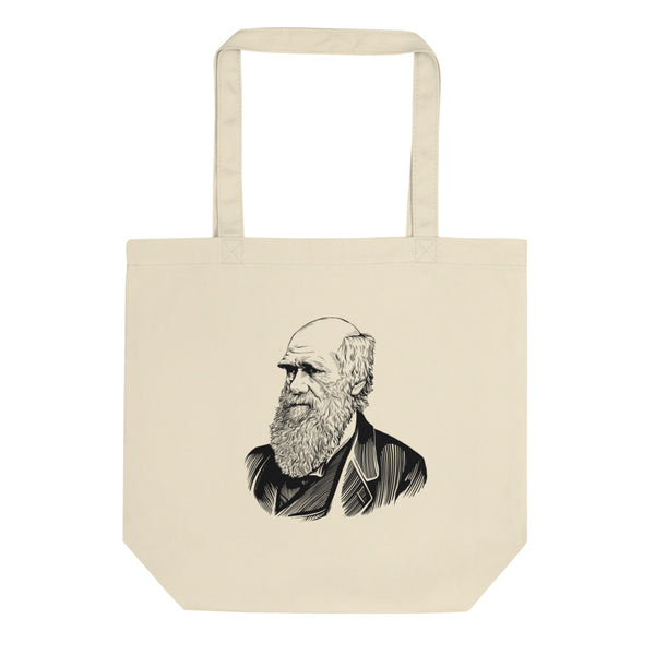 Charles Darwin Organic Cotton Tote Bag - Biblioriot