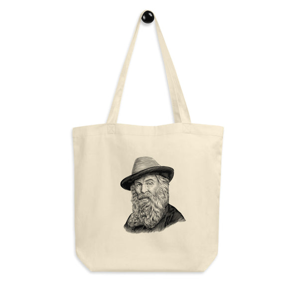 Walt Whitman Organic Cotton Tote Bag - Biblioriot