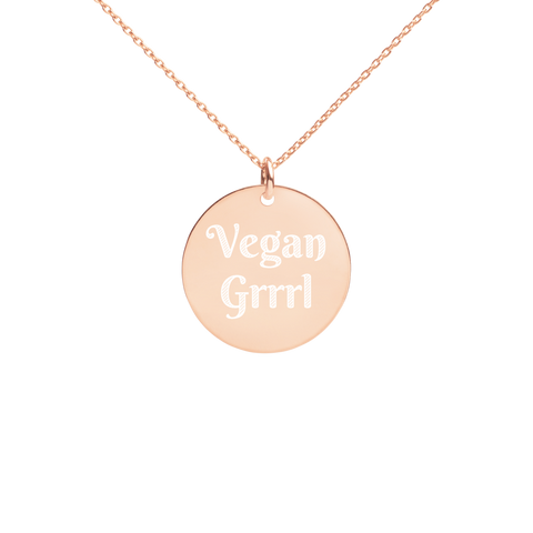 Vegan Jewelry Silver Disc Necklace