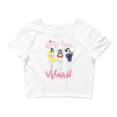 Women's Vegan Crop Tee