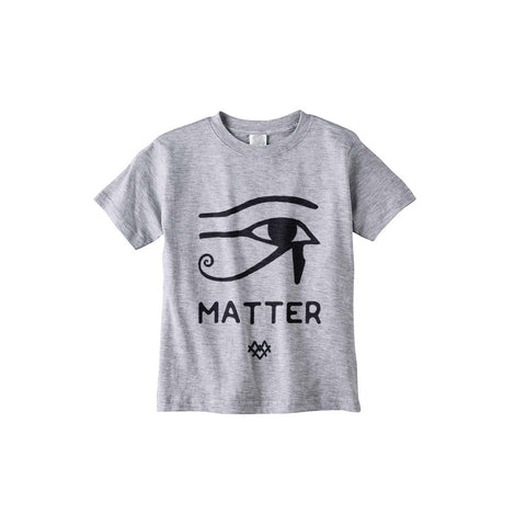 Eye Matter Kids S/S Crew Grey -