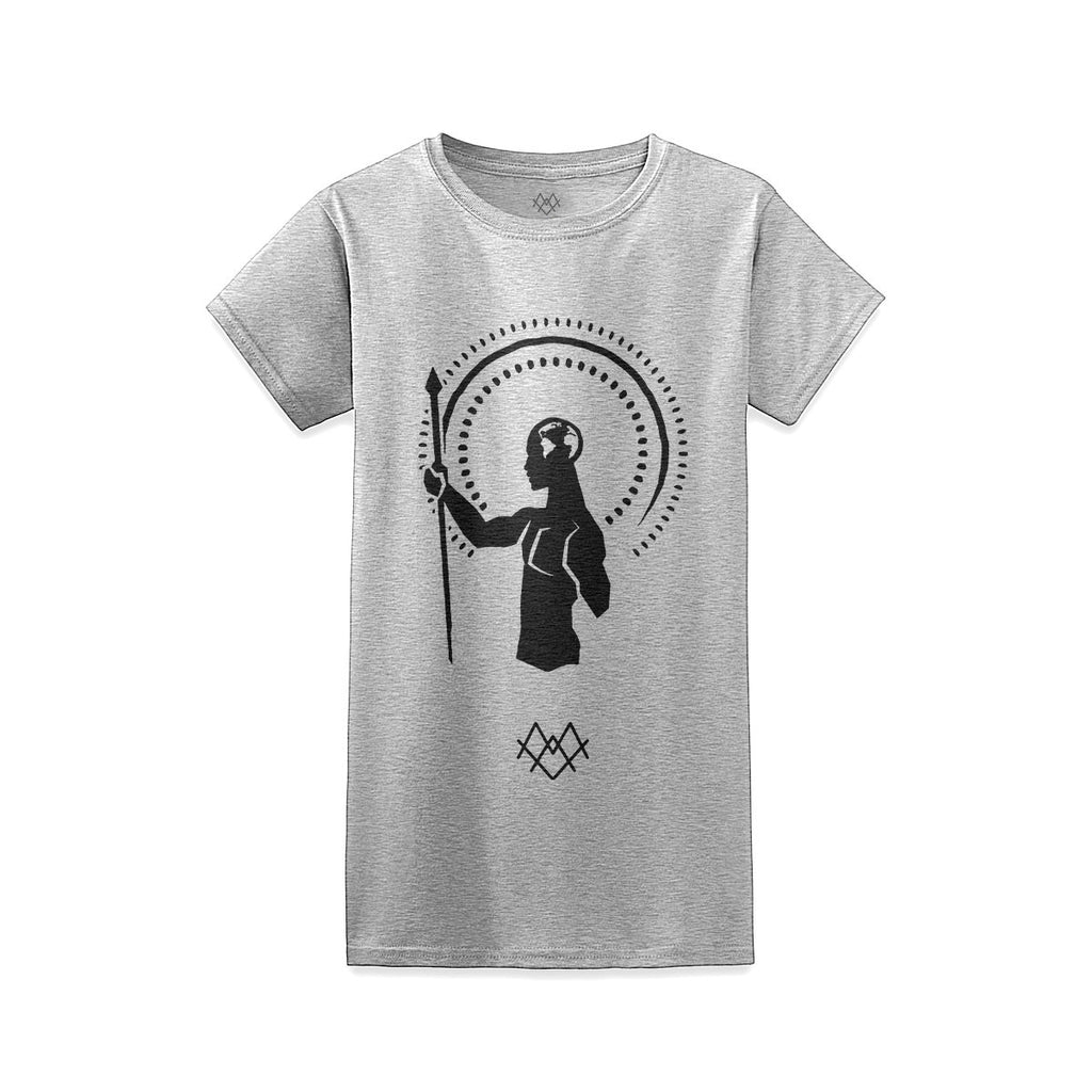 The Black Man Women's Crew - Heather Grey -