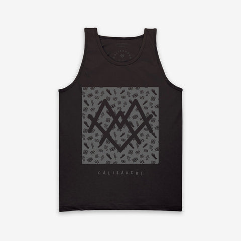 Melanated Hands Mens's Black Tank