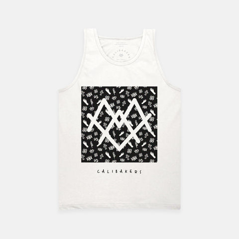 Melanated Hands Mens's White Tank