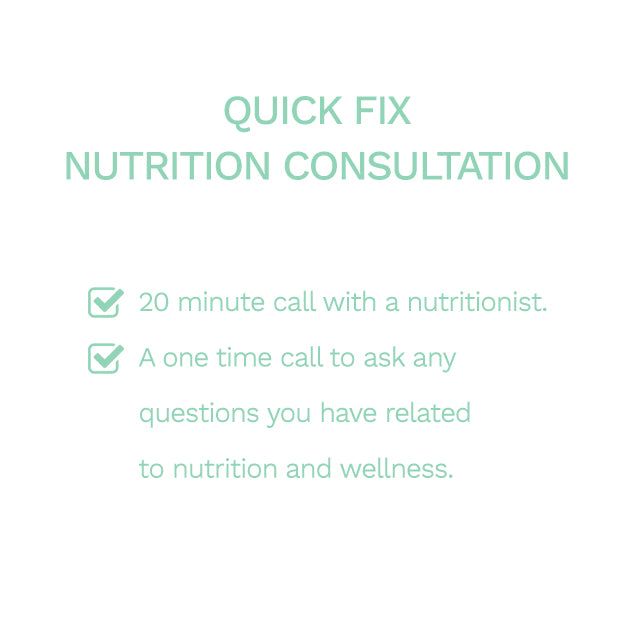 Quick Fix Nutrition Consultation (20mins Call) - Eat Clean ME - Order Healthy Food Online - Meal Plans Dubai