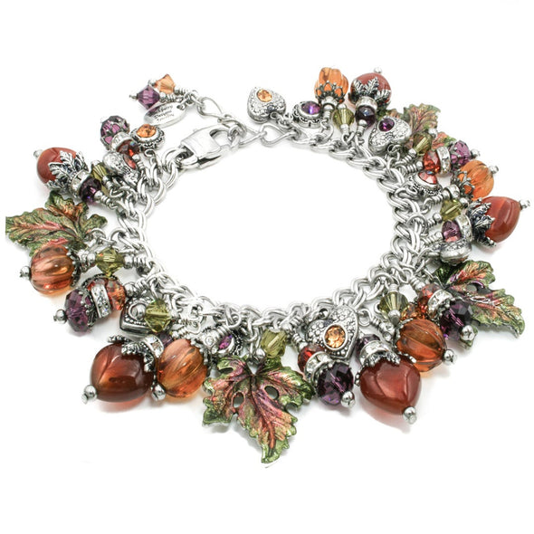 fall leaves charm bracelet