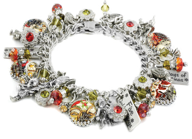 twelve days of christmas, charm bracelet, 12 days