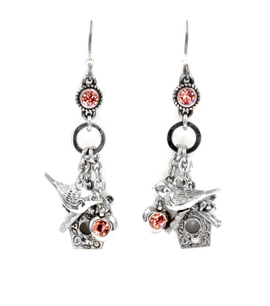 twelve days of christmas three  french hens earrings