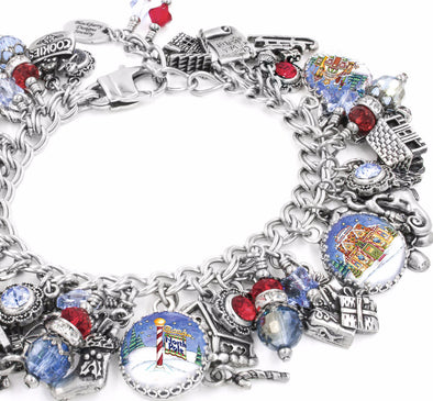 christmas charm bracelet north pole