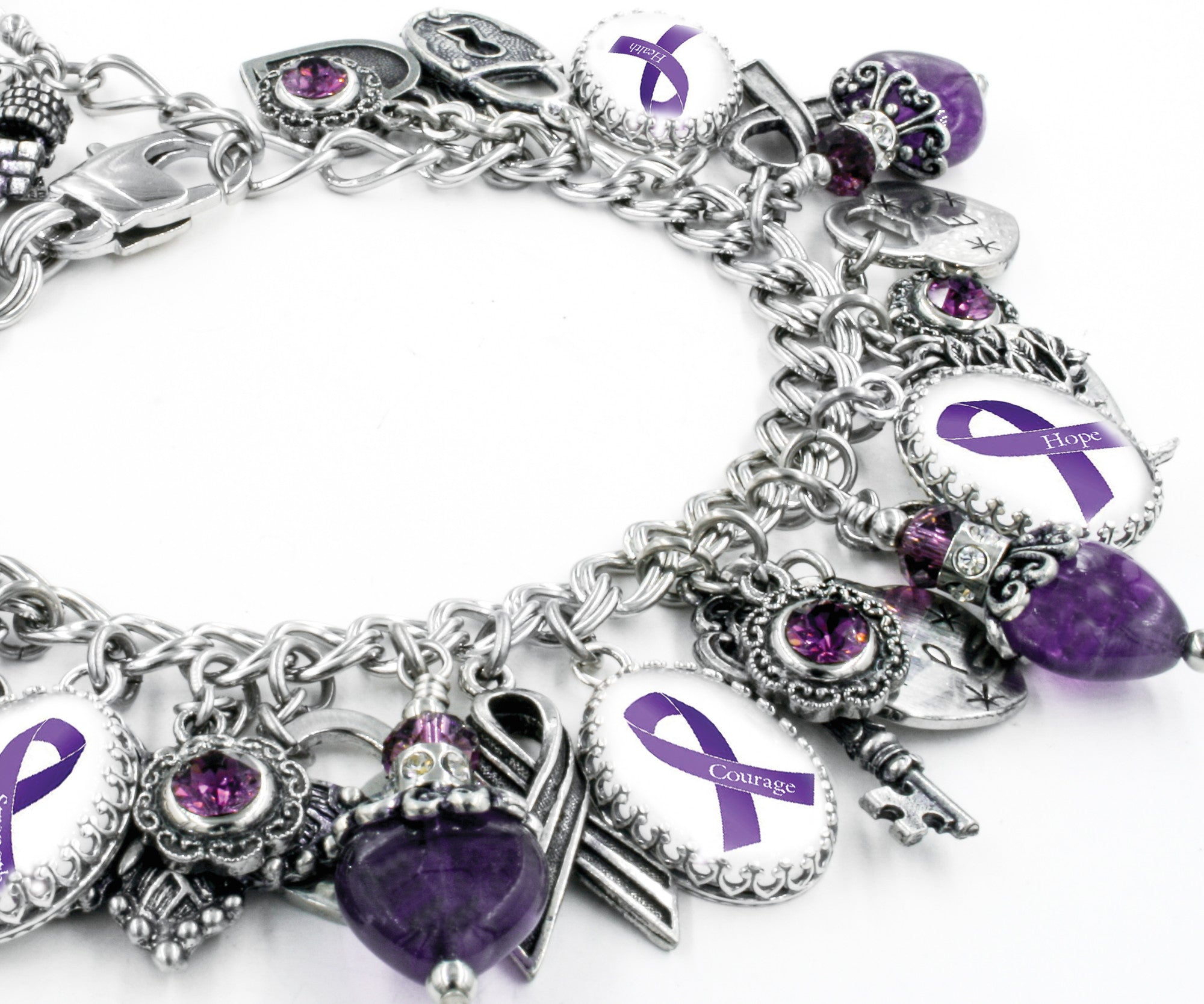 awareness pin s with bracelet by love purple ribbon i alzheimer someone