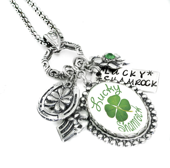irish necklace shamrock