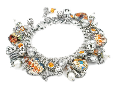 Halloween_charm_bracelet_shosts_pumpkins_trick_treat