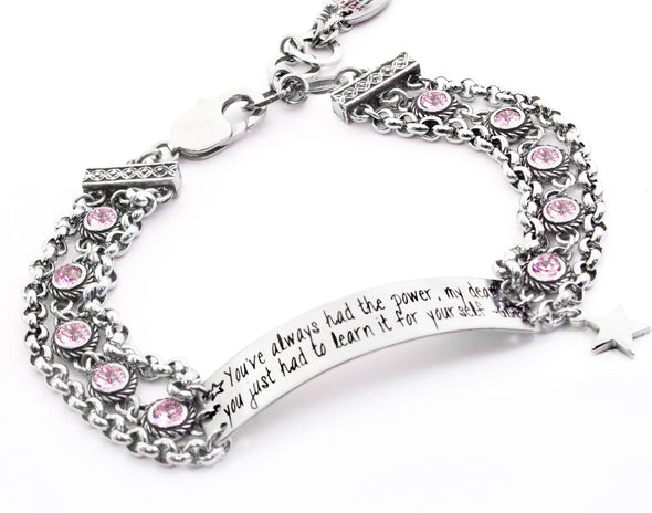 glinda the good quote bracelet