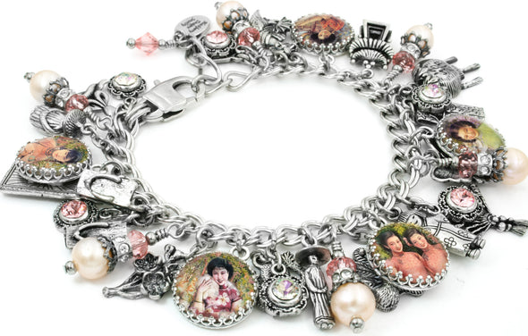 Cherry Blossom, Asian Charm Bracelet