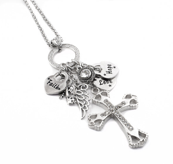 cross charm pendant